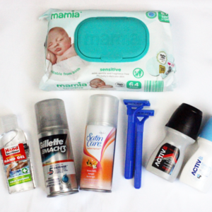 image shows unisex toiletries kit