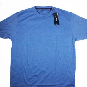 Image shows a mens blue t-shirt